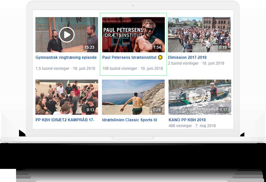 Illustration af thumbnails på skærm